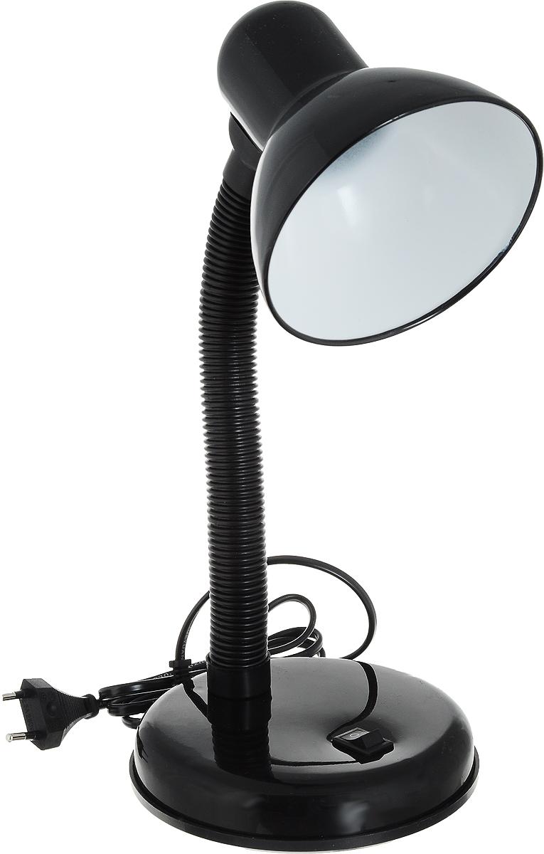 Светильник настольный UNIEL TLI-204, E27, цвет: черный. 0216202162Настольная лампа относится к осветительным приборам, основной функцией которых является создание дополнительного света в определенной зоне, в данном случае – на столе.