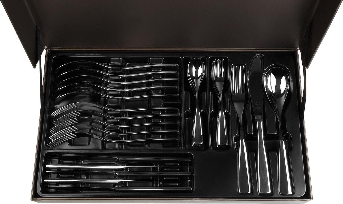 Набор столовых приборов Carl Schmidt Sohn Glinde, 30 предметов043278Набор столовых приборов GLINDE изготовлен из высококачественной нержавеющей стали с глянцевой полировкой. Набор на 6 персон состоит из 30 предметов: 6 столовых ложек, 6 вилок, 6 ножей, 6 чайных ложек, 6 десертных вилок, упакованных в подарочную коробку