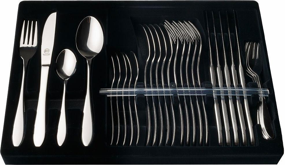 Набор столовых приборов Carl Schmidt Sohn Lemgo, 30 предметов046668Набор столовых приборов LEMGO изготовлен из высококачественной нержавеющей стали с глянцевой полировкой. Набор на 6 персон состоит из 30 предметов: 6 столовых ложек, 6 вилок, 6 ножей, 6 чайных ложек, 6 десертных вилок, упакованных в подарочную коробку