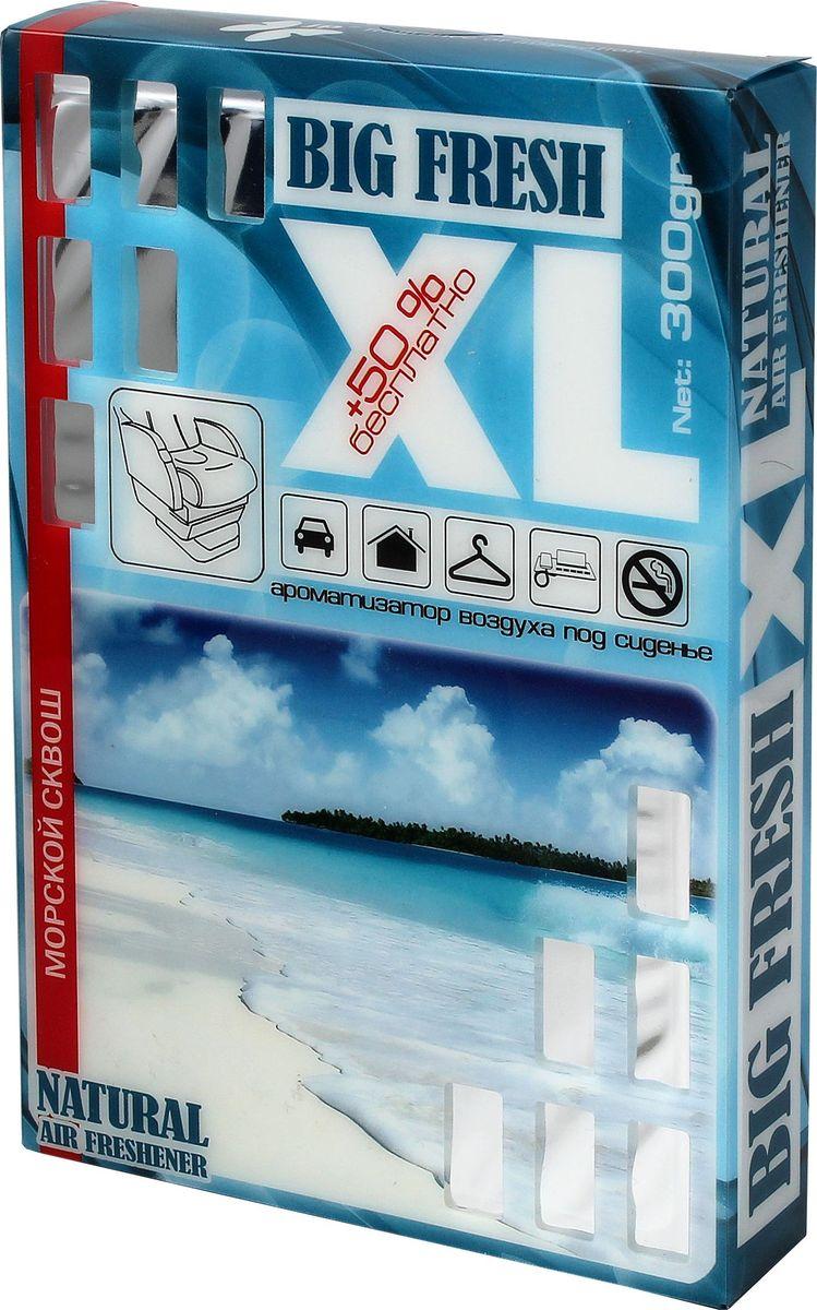 Ароматизатор автомобильный FKVJP Big Fresh Xl. Морской сквош, 300 гBXL 145Автомобильный ароматизатор эффективно устраняет неприятные запахи и придает приятный аромат. Кроме того, ароматизатор обладает элегантным дизайном.