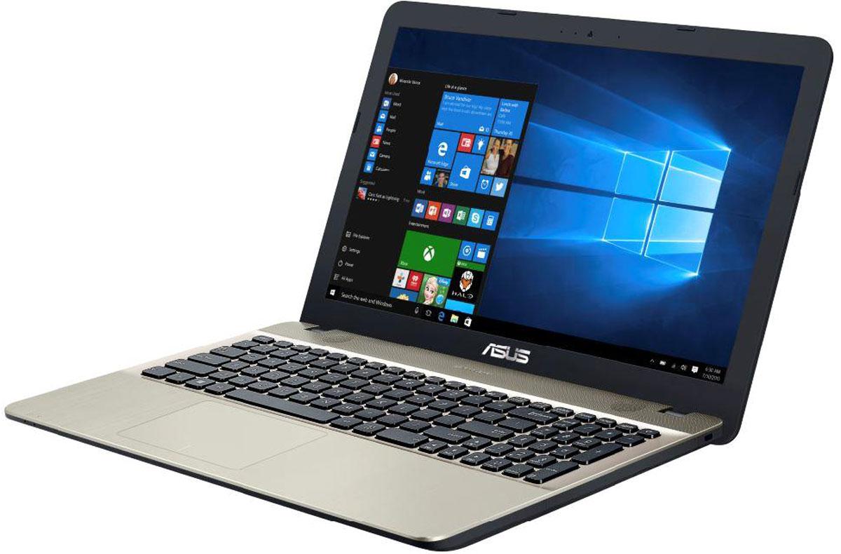 ASUS VivoBook Max X541UA, Chocolate Black (90NB0CF1-M16200)90NB0CF1-M16200ASUS VivoBook Max X541UA - это современный ноутбук для ежедневного использования как дома, так и в офисе. В его аппаратную конфигурацию входят процессор Intel Core i5 и 8 гигабайт оперативной памяти, которые обеспечат высокую скорость работы любых приложений.Для быстрого обмена данными с периферийными устройствами VivoBook Max X541UA предлагает высокоскоростной порт USB 3.0 (5 Гбит/с), выполненный в виде обратимого разъема Type-C. Его дополняют традиционные разъемы USB 2.0 и USB 3.0. В число доступных интерфейсов также входят HDMI и VGA, которые служат для подключения внешних мониторов или телевизоров, и разъем проводной сети RJ-45. Кроме того, у данной модели имеется кард-ридер формата SD/SDHC/SDXC.Ноутбук VivoBook Max X541UA выполнен в прочном, но легком корпусе весом всего 2,07 кг, поэтому он не будет обременять своего владельца в дороге, а привлекательный дизайн и красивая отделка корпуса превращают его в современный, стильный аксессуар.Для комфортного чтения электронных книг и журналов в ASUS VivoBook Max X541UA реализуется специальный режим Eye Care, в котором уменьшается интенсивность света в синей составляющей видимого спектра.Эргономичная клавиатура этого ноутбука обладает полноразмерными клавишами, каждая из которых наделена оптимизированным сопротивлением нажатию. Ваши руки не устанут даже после долгой работы с текстом.Тачпад, которым оснащается модель X541UA, обладает большой сенсорной панелью и поддерживает множество различных жестов: скроллинг, масштабирование, перетаскивание и т.д. За их корректное и быстрое распознавание отвечает специальная технология ASUS Smart Gesture.Точные характеристики зависят от модификации.Ноутбук сертифицирован EAC и имеет русифицированную клавиатуру и Руководство пользователя