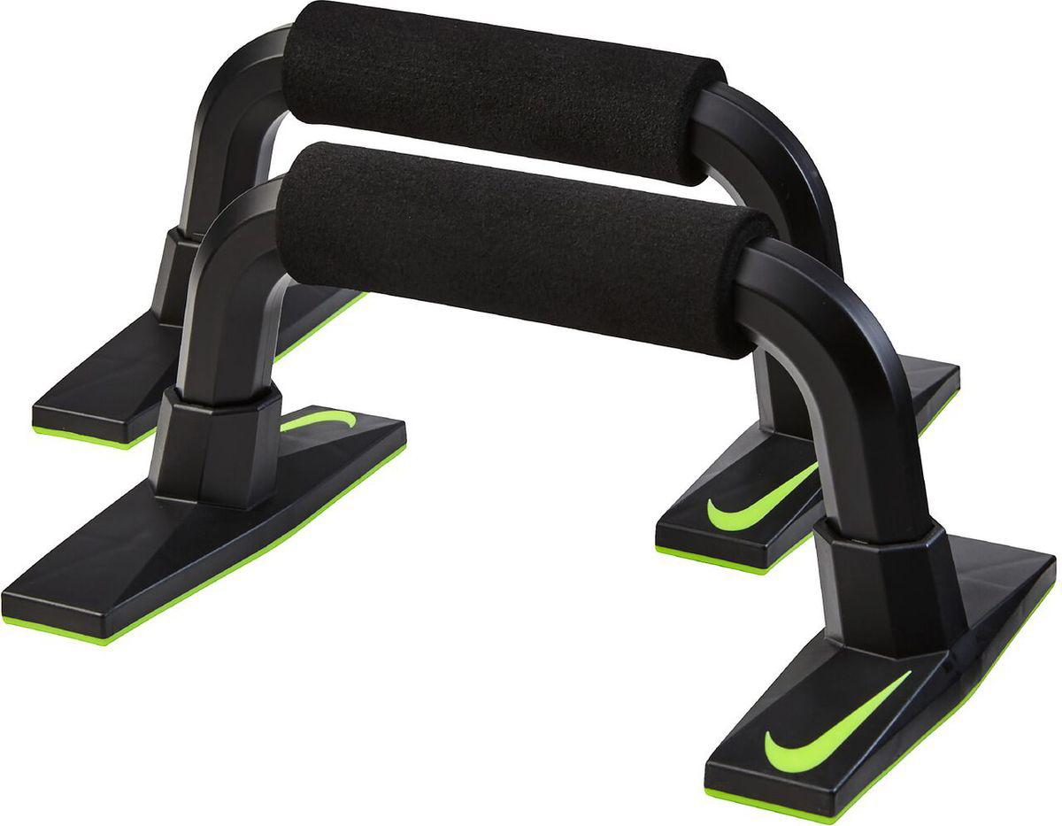 Упор для отжиманий Nike Push Up Grip 3.0, цвет: черныйN.ER.36.023.NSУдобные упоры для отжиманий от компании Nike, модель Push UP Grip. С этим тренажёром особенно задействованы мышцы верхней части тела. Можно укрепить руки, плечи, трицепсы и грудь. Упоры для отжиманий Nike Push UP изготовлены из полипропилена и высококачественной резины, имеют долгий срок эксплуатации, практически не подвержены механическому износу. Благодаря удачному дизайну, давление на запястья снижены, а сами упоры имеют устойчивое основание. Размер одного упора: 27 х 16 х 12 см.