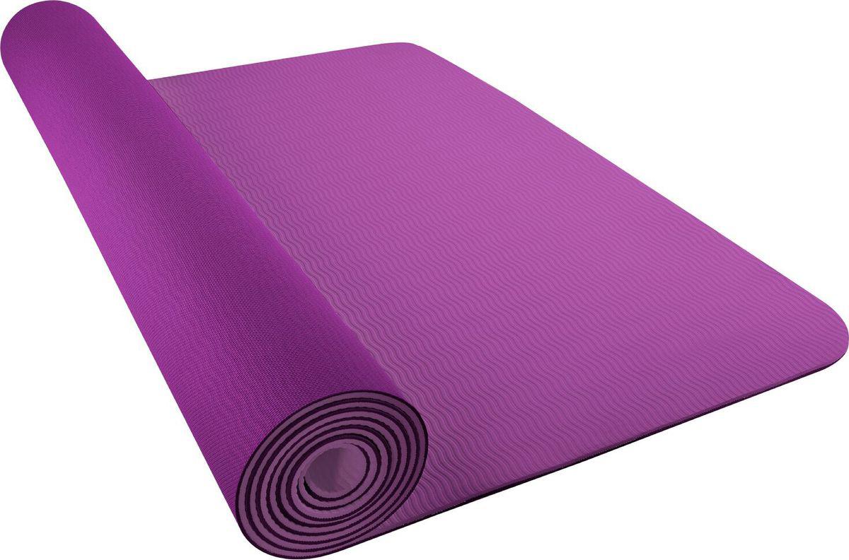 Мат для йоги Nike Fundamental Yoga Mat (3 мм), цвет: фиолетовыйN.YE.02.625.OSПрактичный коврик для занятий йогой с ремешком для переноски и осевым тиснением, которое помогает принимать позы по линии центра.