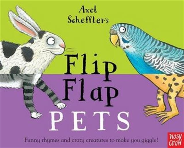 Axel Scheffler's Flip Flap Pets a cat a hat and a piece of string