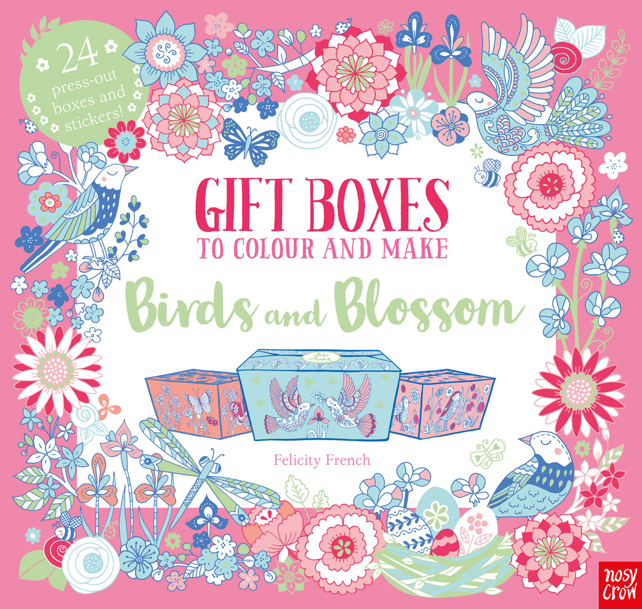 Gift Boxes to Colour and Make: Birds and Blossom kz headset storage box suitable for original headphones as gift to the customer