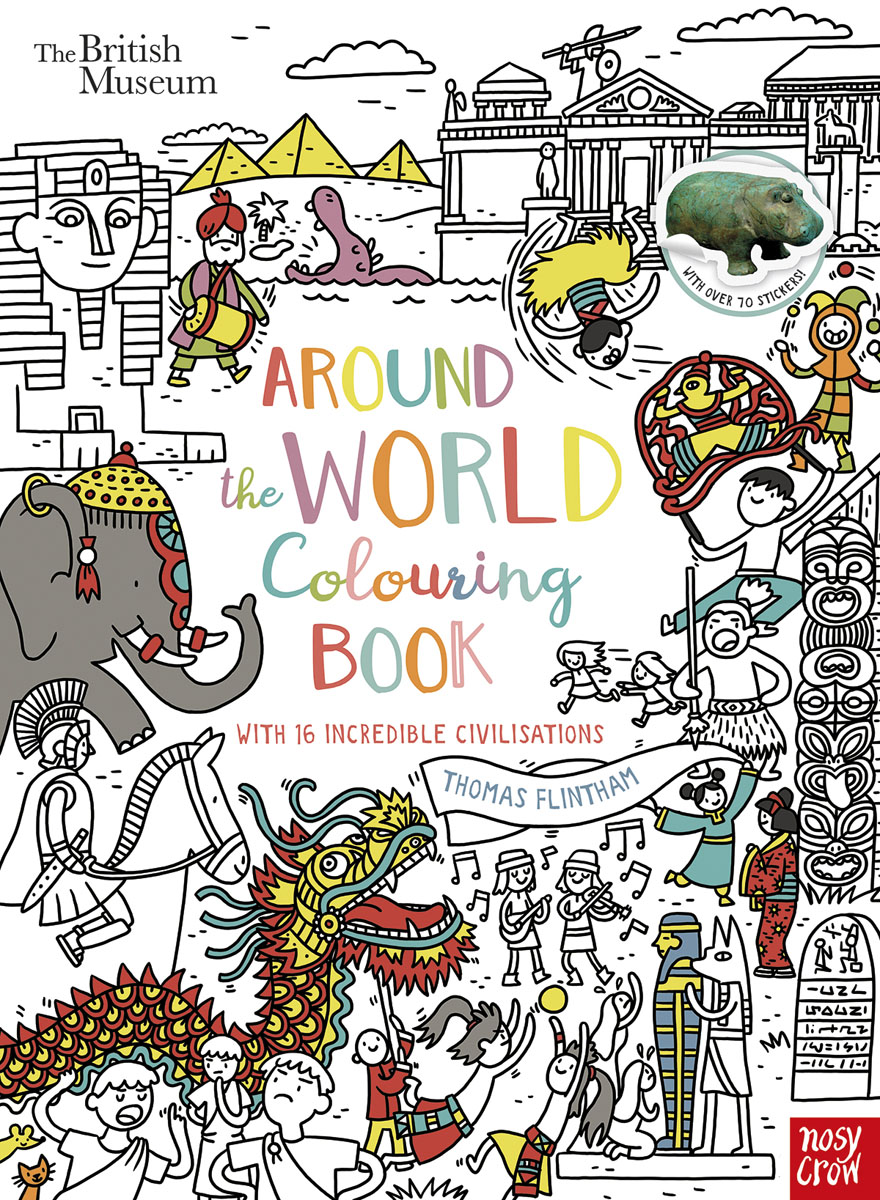 British Museum: Around the World Colouring Book the two penny bar