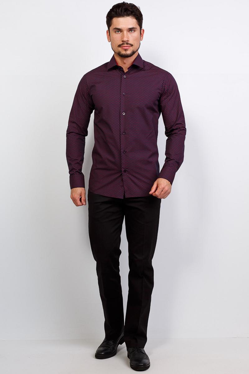Рубашка мужская Casino, цвет: синий. c263/15/1252/1. Размер 45 (58-174/184) ночные сорочки и рубашки