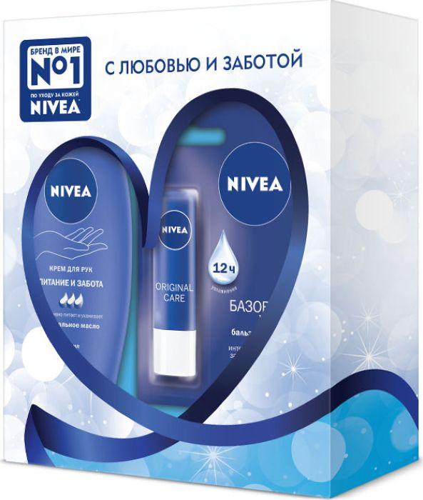 Nivea Подарочный Набор Питание и забота48126-00339-01Увлажняющая формула с Hydra IQ и питательным маслом дерева Ши ухаживает за Вашими губами и предотвращает потерю влаги, сохраняя их мягкими и нежными. Как это работает: обеспечивает интенсивный уход в течение длительного времени, эффективно защищает губы от обветривания в любое время года, без цвета, нейтральный аромат, одобрено дерматологами, не содержит консервантов. Всё лучшее от NIVEA в новом креме для рук – интенсивная питательная формула и любимый аромат в сочетании с уникальной быстро-впитывающейся текстурой и инновационной упаковкой! Формула с миндальным маслом обеспечит коже рук интенсивное питание и заботу на 24 часа! Крем представлен в инновационной упаковке – приятный на ощупь материал soft touch.