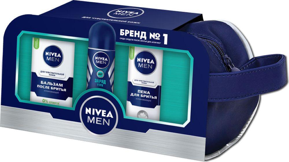 Nivea Подарочный Набор Для чувствительной кожи в косметичке набор perfectstyle набор бритье для чувствительной кожи 2 средства