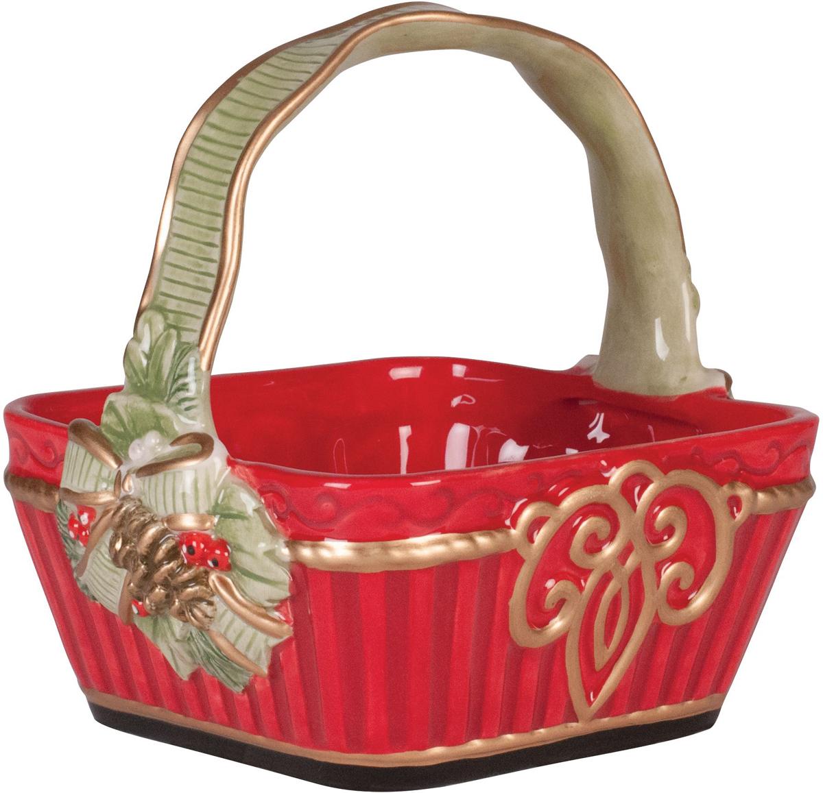 Корзинка Fitz and Floyd Новогодняя сказка, 0,5 л49-371Рекомендуется бережная ручная мойка с использованием безабразивных моющих средств.