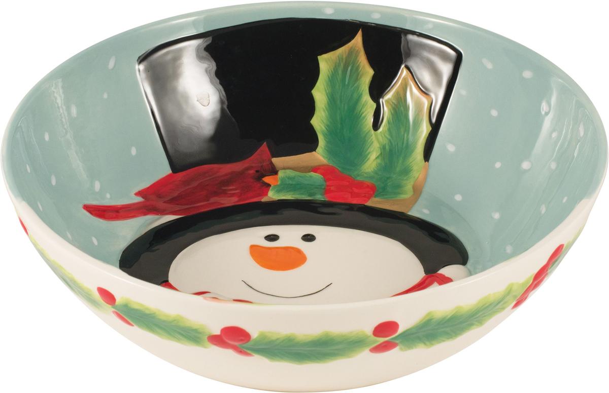 Чаша для сервировки Fitz and Floyd Снеговик в лесу, 2,2 л49-464Рекомендуется бережная ручная мойка с использованием безабразивных моющих средств.