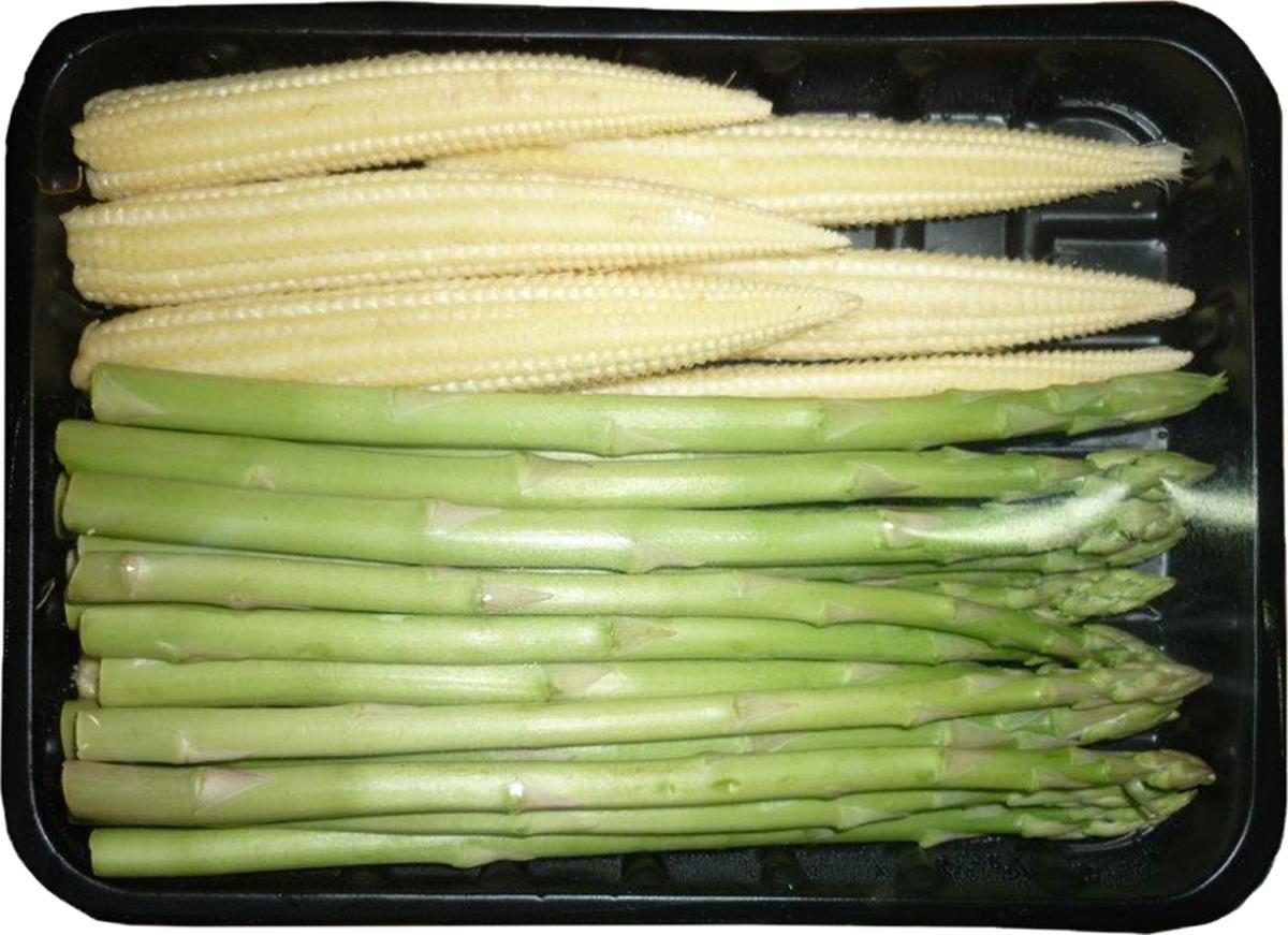 Микс мини Спаржа и мини Кукуруза, 165 г2435Спаржа - лучший поставщик фолиевой кислоты, необходимой для формирования клеток крови, роста организма и предотвращения заболеваний печени. Мини кукуруза обладает нежным сладковатым вкусом. Содержит важные витамины, микро- и макроэлементы. Уважаемые клиенты! Обратите, пожалуйста, внимание: изображение товара на сайте может отличаться от фактического вида товара. Фото представлено для визуального восприятия товара.