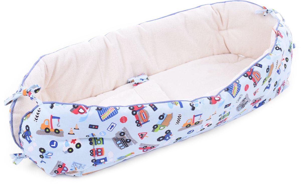 HoneyMammy Кокон Organic для новорожденного для совместного сна City Cars