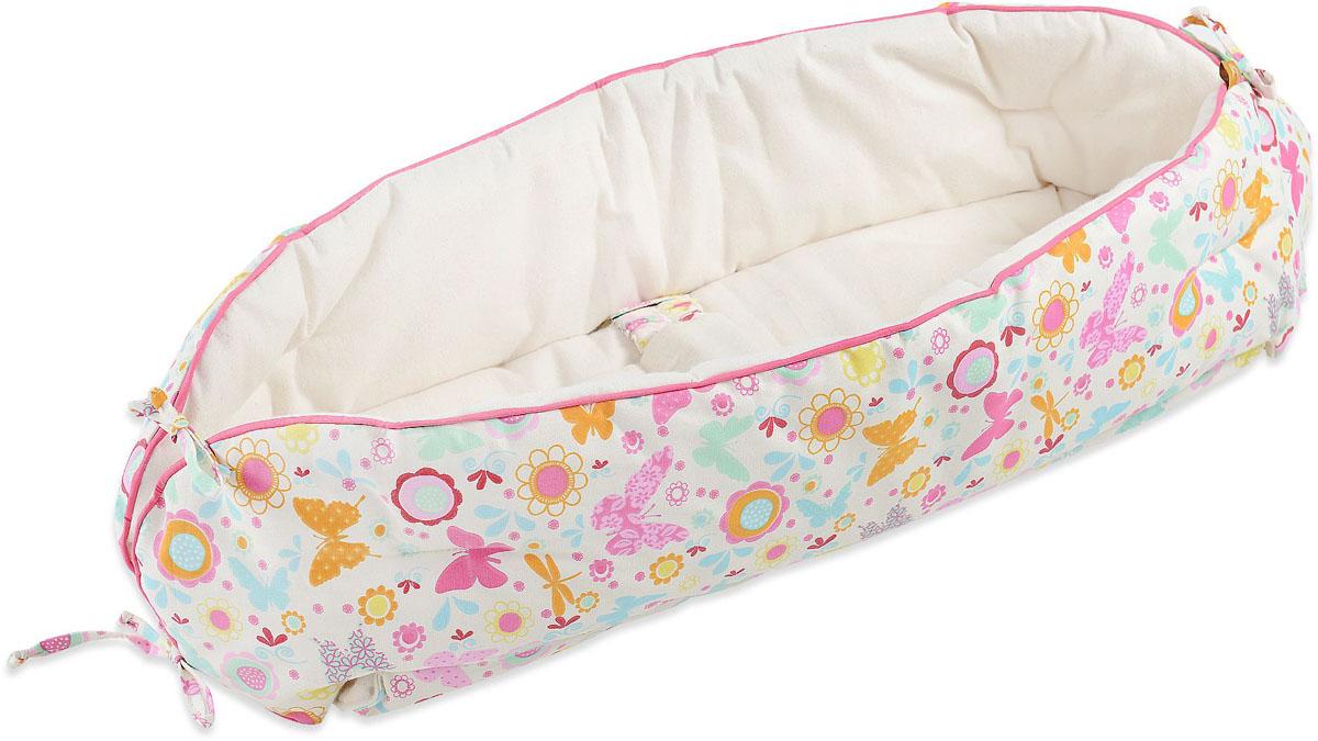 HoneyMammy Кокон Organic для новорожденного для совместного сна Butterfly