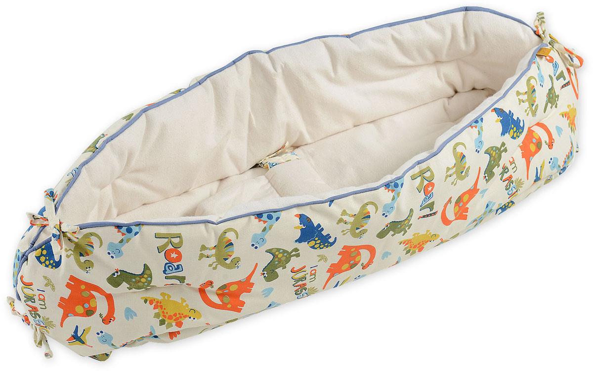 HoneyMammy Кокон Organic для новорожденного для совместного сна Dino