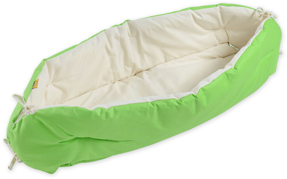 HoneyMammy Кокон для новорожденного для совместного сна цвет зеленый