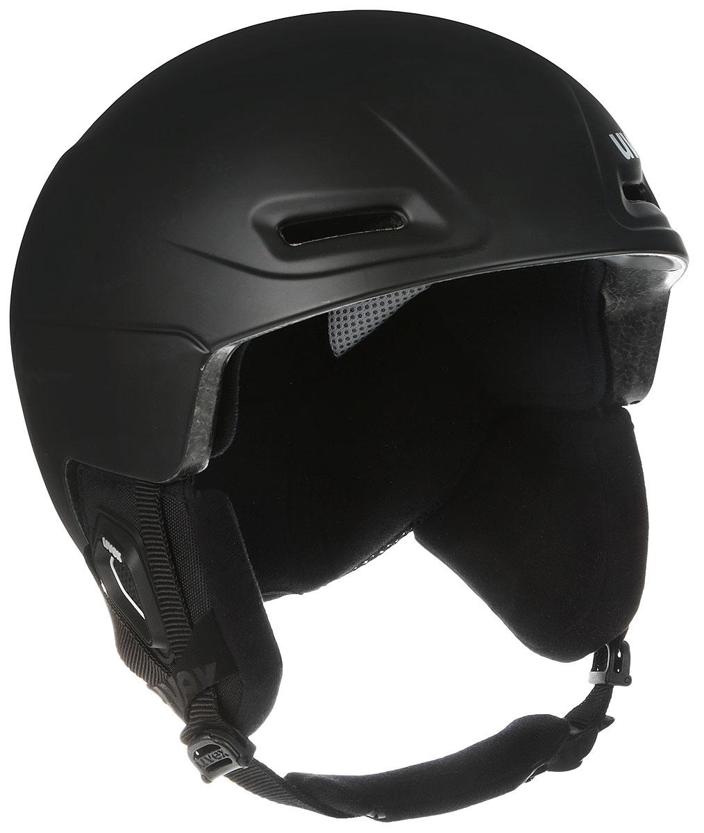 Шлем зимний Uvex JIMM, цвет: черный. Размер L6206-2007Зимний шлем Uvex JIMM с инновационной системой подгонки размера octo+. Гибкие секции внутренней ракушки принимают форму головы и запоминают ее. Дальнейшая настройка размера не требуется. Имеется регулировка размера.Особенности:- Гипоаллергенный материал подкладки;- Регулируемая система вентиляции;- Съемная защита ушей;- Фиксатор стрэпа маски; - Застежка monomatic;- Конструкция In-mould;- Регулируемая вентиляция.Сертификация EN 1077 B.