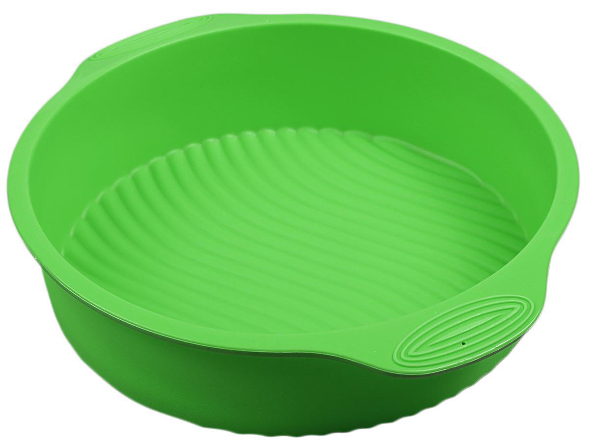 Форма для выпечки Доляна Круг с ручками, цвет: зеленый, 28,5 х 25 х 6 см118940_зеленый