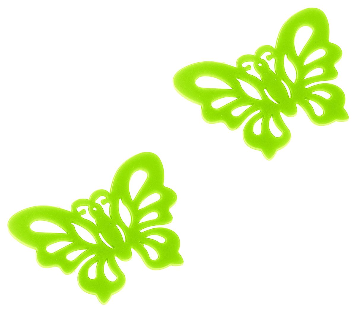 Набор подставок под горячее Доляна Бабочка, цвет: салатовый, фиолетовый, 2 шт148200Набор Доляна Бабочка состоит из 2 силиконовых подставок под горячее, выполненных в форме бабочек. Силиконовая подставка под горячее - практичный предмет, который обязательно пригодится в хозяйстве. Изделие поможет сберечь столы, тумбы, скатерти и клеенки от повреждения нагретыми сковородами, кастрюлями, чайниками и тарелками.