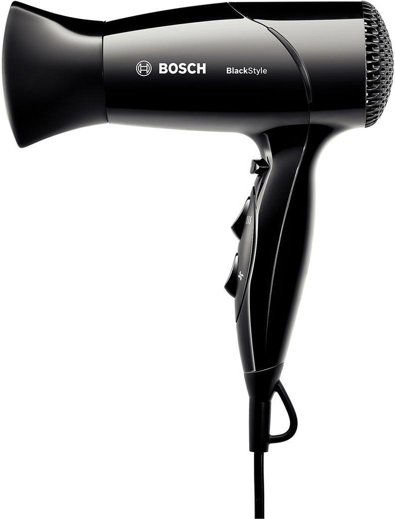 Bosch PHD 2511B, Black фенPHD2511BКомпактный фен Bosch PHD 2511B мощностью 1800 Вт быстро высушит волосы или поможет вам сделать красивую укладку в домашних условиях. Из интересных особенностей BOSCH PHD 2511B хотелось бы отметить отдельные скользящие переключатели для режимов подачи воздуха и температурных режимов, функцию термозащиты, эргономичный дизайн и петельку для подвешивания фена. Кроме этого, есть функция подачи холодного воздуха и насадка-концентратор.