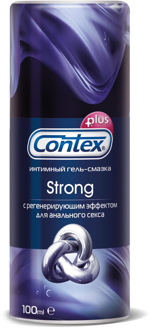 Contex Strong Интимный гель-смазка для анального секса с регенерирующим эффектом, 100 мл contex гель смазка wave увлажняющий с пантенолом 100 мл