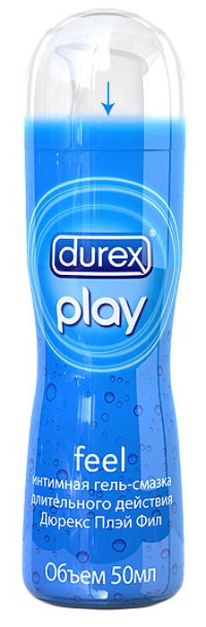 Durex Гель-смазка Play Feel, для повышения чувствительности, 50 мл durex play very cherry со сладким ароматом вишни интимная гель смазка 50мл