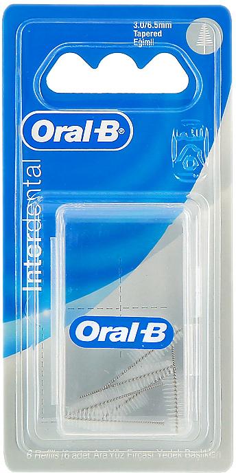 """Сменный ершик Oral-B """"Interdental"""" для межзубной щетки, конический, 6 шт"""