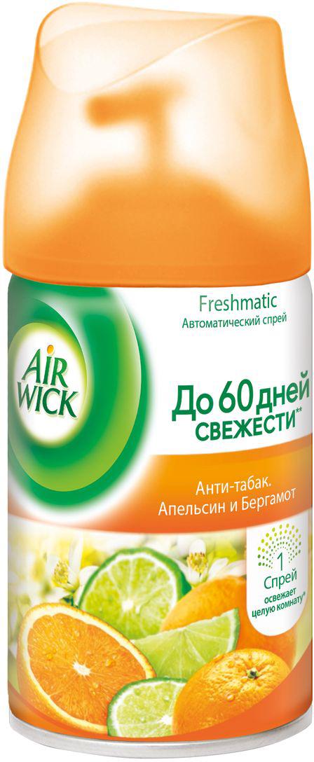 """Сменный флакон к освежителю воздуха AirWick """"Антитабак. Апельсин и бергамот"""", 250 мл"""