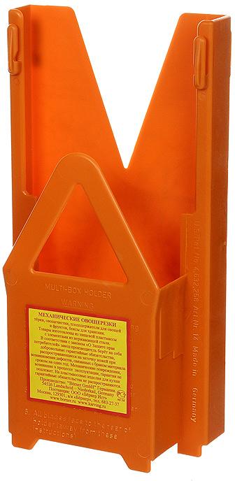Мультибокс для овощерезки Borner Classic, цвет: оранжевый 117/0117/0Мультибокс, изготовленный из пищевого пластика - это специальный чехол, предназначенный для безопасного хранения основного комплекта овощерезки Borner. Мультибокс с овощерезкой можно поставить на стол или повесить на стену.Характеристики: Материал: пластик. Цвет: оранжевый. Размер: 25,5 см х 13 см х 6 см. Производитель: Германия. Артикул: 117/0.