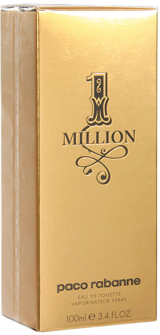 Paco Rabanne 1 Million. Туалетная вода, 100 мл65035619Аромат One Million обращается к образам, заставляющим мечтать: блестящие машины, погони за сокровищами или красивыми девушками… удовольствия, желания, все, что сверкает и вызывает головокружение. Без комплексов и с наслаждением… С неоспоримой долей юмора герой One Million использует свое очарование и даже злоупотребляет им, чтобы в одно мгновение добиться всего того, чего он всегда желал. One Million – это настоящая парфюмерная симфония! Сначала - радостная серия ярких и искрящихся нот: свежесть грейпфрута, мяты и красного мандарина - настоящее очарование. За ними следуют насыщенные сердечные ноты: экстракт розы, корицы и пряностей - захватывающее путешествие в мир чувственной утонченности и подчеркнутой мужественности. И, наконец, заключительный бархатистый аккорд из ароматов кожи, белой древесины, стиракса (смолы амбрового дерева) и индонезийских пачулей. В итоге, перед нами не один, а целое множество ароматов, настоящий каскад свежести с ярким вкусовым послесловием. Верхняя нота: Красный мандарин, перечная мята. Средняя нота: Абсолю розы, корица. Шлейф: Кожаный аккорд, амбра. Абсолю розы и ноты кожи - аромат золота. Культовой жизни.Краткий гид по парфюмерии: виды, ноты, ароматы, советы по выбору. Статья OZON Гид