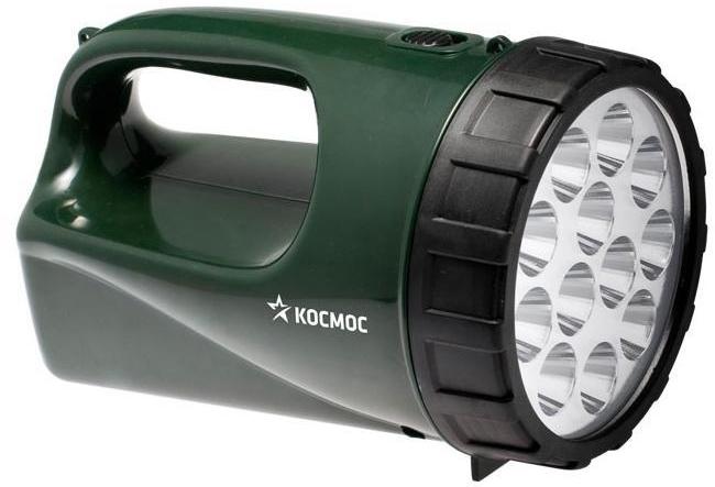 Фонарь-прожектор светодиодный Космос, аккумуляторный, цвет: зеленый. Модель 9199 LEDKOCAccu9199LEDФонарь-прожектор Kosmos KOCAccu9199LED весит 0,45 кг. Источником света служит 12 светодиодные лампы, которые дают длину светового луча 100 метров. Удобен для использования дома и на природе.Работает от встроенного аккумулятора (4V 3Ah). Время работы - 24 часа. Характеристики:Материал: пластик, стекло, металл, текстиль. Размер фонаря:16 см х 10 см х 10 см. Емкость аккумуляторной батареи:4V/3Ah. Количество светодиодных ламп:12 шт. Время непрерывной работы (при полной зарядке):до 20 ч. Рабочие температуры фонаря (при полностью заряженной батарее):от - 10°С до +40°С. Размер упаковки:19,5 см х 13 см х 13 см. Производитель: Россия. Изготовитель: Китай. Артикул:KOCAP2008A-LED. Прилагается инструкция по эксплуатации на русском языке. Космос - российский бренд электротоваров, созданный, чтобы обеспечить отечественного покупателя качественной энергосберегающей и энергоэффективной продукцией в категориях:Лампы, светильники Сезонные электротовары Элементы питания, фонари Электроустановочные изделия. Лучшие заводы шести стран мира: Россия, Украина, Белоруссия, Китай, Корея, Япония производят товары Космос на базе современных технологий.