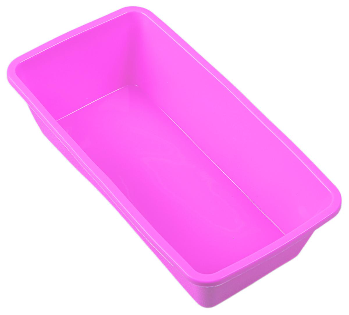 Форма для выпечки Доляна Прямоугольная, цвет: розовый, 22 х 11 х 6 см164562_розовыйФорма для выпечки Доляна Прямоугольная, цвет: розовый, 22 х 11 х 6 см