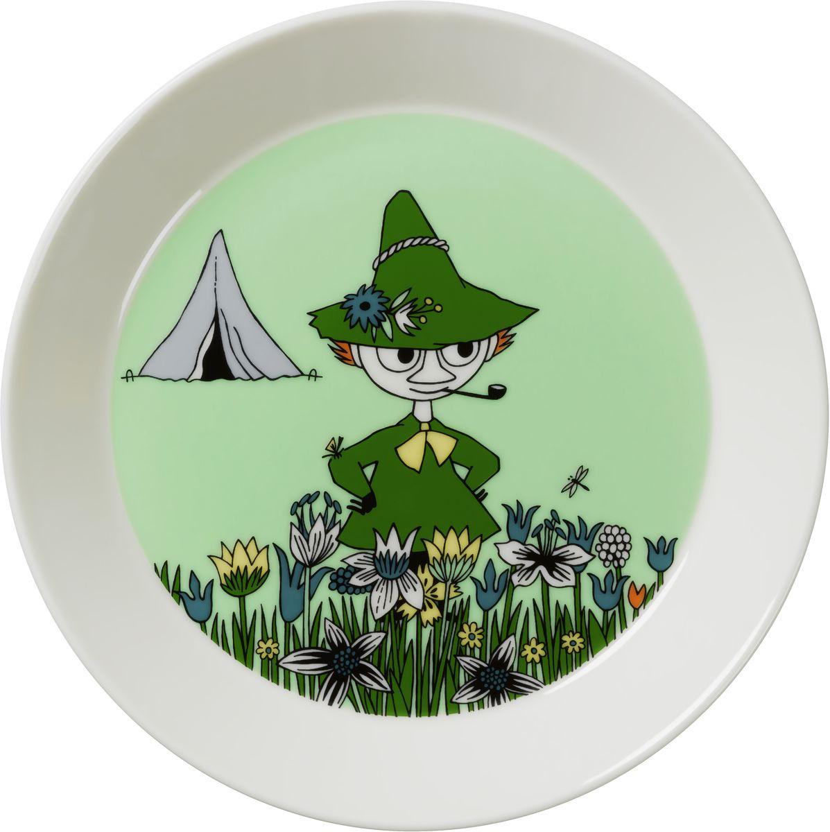 Тарелка Arabia Finland Снусмумрик, цвет: зеленый, диаметр 19 см1015566