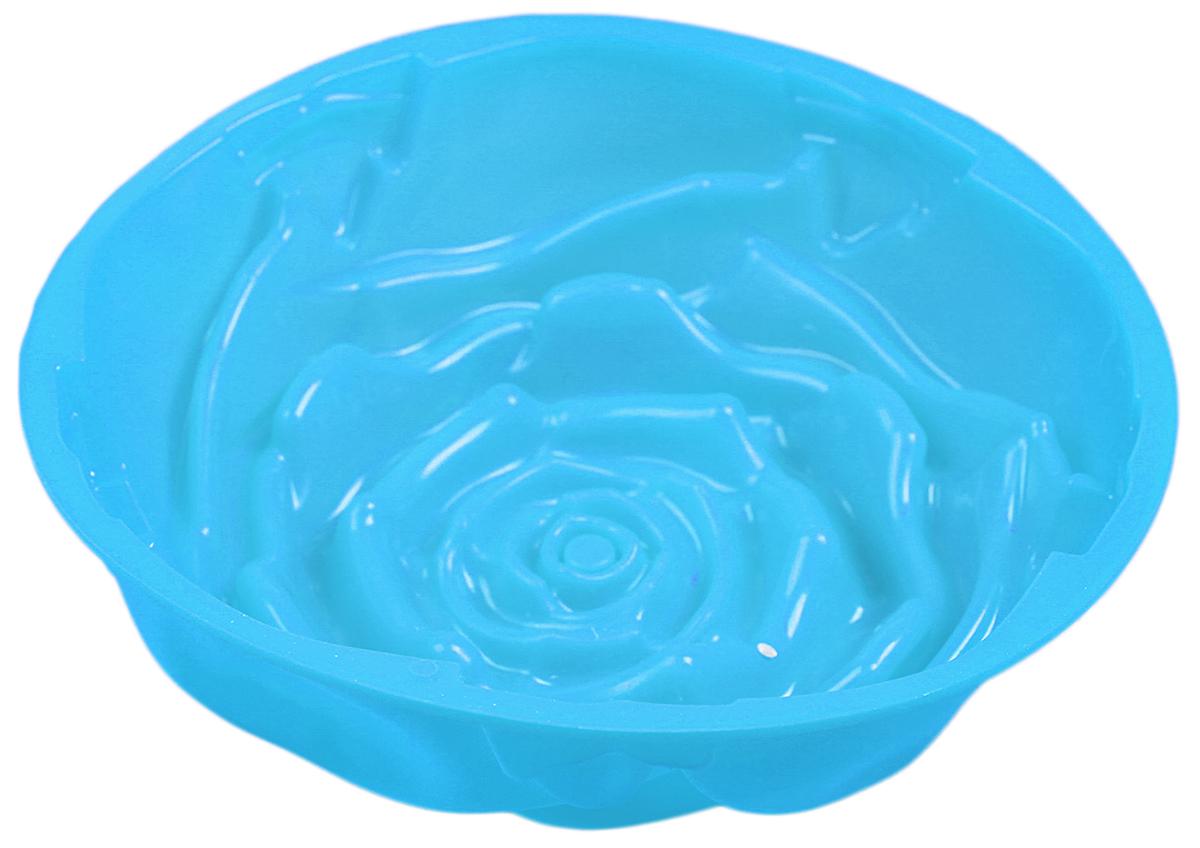 Форма для выпечки Доляна Розочка, цвет: голубой, 21 х 9 см549333_голубойФорма для выпечки Доляна Розочка, цвет: голубой, 21 х 9 см
