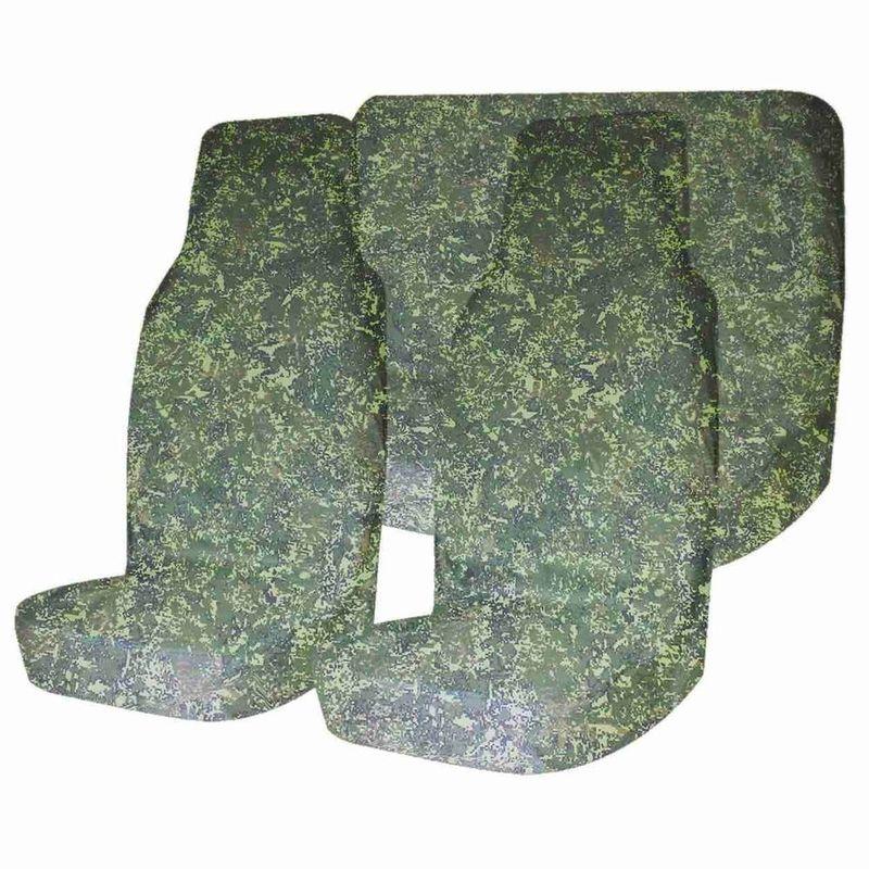 Комплект защитных чехлов Tplus, на передние и задние сиденья, 3 штT002053Комплект грязезащитных чехлов на передние и заднее сиденья 3шт, цифра Tplus обеспечивает защиту кресел автомобиля от загрязнений. Чехлы легко надеваются и снимаются для последующей чистки. В качестве материала для их изготовления выступает оксфорд, пл. 240. Изделия имеют защитную пиксельную расцветку. На тыльной стороне расположены карманы. Вес комплекта: 1.1 кг.
