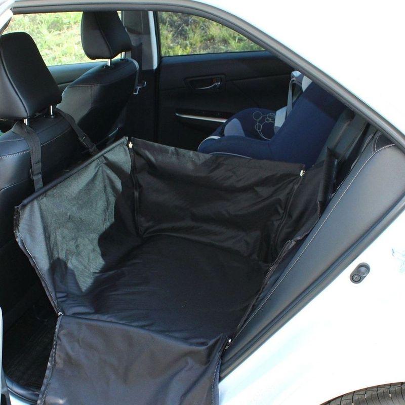 Автогамак для животных Tplus Компакт, на заднее сиденье, цвет: черный