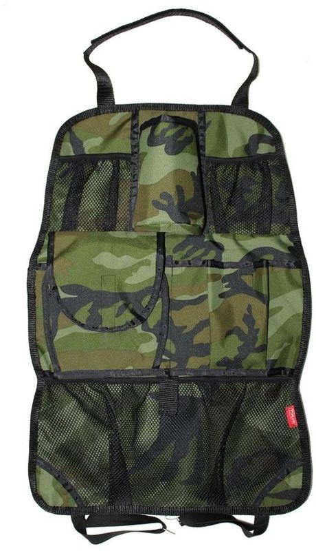 Органайзер Tplus, на спинку сиденья, цвет: нато, 40 х 60 смT007198Материал: оксфорд;Цвет: нато;Количество отделений: 6.