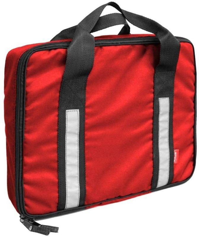 Сумка для динамической стропы и шаклов Tplus, цвет: красный. T007226T007226Размер: 370х300х120 мм Сетчатый карман для стропыПетли для крепления шаклов: 2 шт.Для строп шириной: 120 ммМатериал: оксфорд 600Цвет: красныйСветовозвращающие элементы