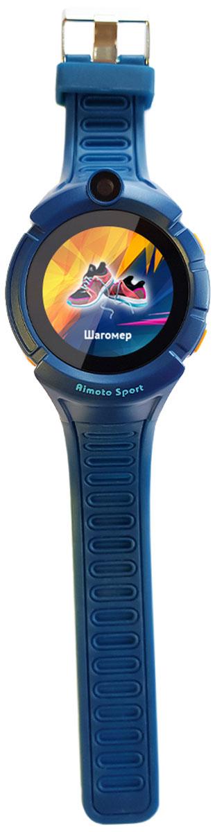 Кнопка Жизни Aimoto Sport, Blue умные часы9900104Часы-телефон Кнопка жизни Aimoto Sport имеют встроенный GPS и Wi-Fi. Как это работает и какие возможности дает? Управление функцией GPS осуществляется посредством приложения доступного на AppStore и PlayMarket. Интуитивно понятный интерфейс приложения максимально упрощает настройку и открывает богатые функциональные возможности. Определение местоположенияАксессуар дает возможность в режиме реального времени следить за перемещениями ребенка на электронных картах (Google). Вы получаете полную информацию о том, где находится и как перемещается ваш ребенок в любой момент времени. Гео-зоныВозможность установить желаемую безопасную зону, например район школы, двора и других мест. При выходе ребенка за границы гео-зоны вы получаете уведомление и можете перезвонить и уточнить причину и ситуацию. История перемещений Запись и хранение истории перемещения ребенка (все точки на карте, дата и точное время). При желании ее можно просмотреть как видеоролик. Можете узнать продолжительность прогулки, подсчитать количество шагов, количество затраченных калорий, даже узнать качество сна и многое другое. Датчик снятия с руки, встроенная камера и фонарик Часы всегда на руке - вы всегда на связи. При снятии GPS часов с руки вы получаете текстовое уведомление. Часы Aimoto Sport оснащены встроенной камерой и светодиодным фонариком.Часы Aimoto Sport имеют GSM-модуль, который позволяет использовать устройство как сотовый телефон. Вы можете установить сим-карту любого оператора сотовой связи. Для общение гаджет получил динамик и микрофон. ТелефонПомимо возможности принимать входящие звонки ребенок может сам вызвать абонента, например маму или папу. Вы можете разрешать/запрещать номерам звонить на часы, например внести в список разрешенных звонков только номера телефонов близких и родных. Кнопка SOS Часы оснащены кнопкой SOS. Ребенок может воспользоваться ей, чтобы сообщить вам, что он в опасности. Одно нажатие и вам придет оповещение. Вы сможет