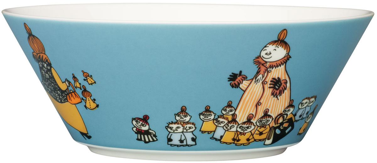 Пиала Arabia Finland Мюмла-мама, 400 мл1006199Пиала изготовлена из высококачественного фарфора, покрытого глазурью.Внешняя стенка оформлена красочным изображением.Изделие прекрасно подойдет для подачи салата илимороженого. Благодаря уникальному дизайну такая пиаластанет бесспорным украшением вашего стола.