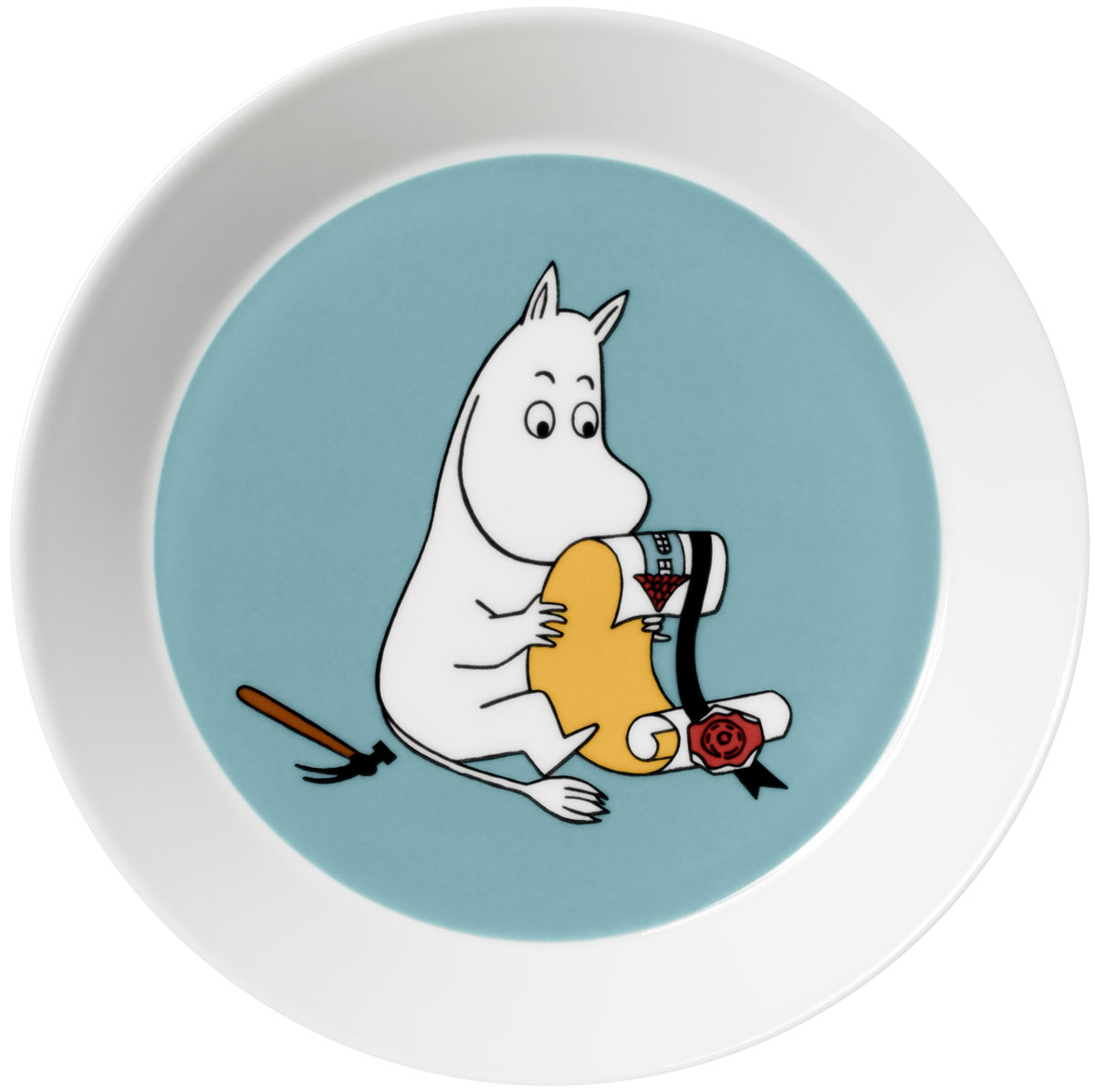 Тарелка Arabia Finland Муми-Тролль, цвет: бирюзовый, диаметр 19 см1006290
