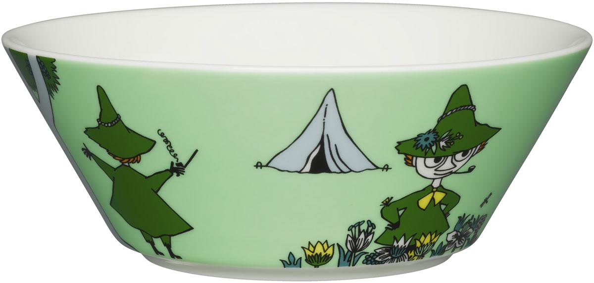 Пиала Arabia Finland Снусмумрик, цвет: зеленый, 400 мл пиала arabia finland фрекен снорк цвет мультиколор 400 мл