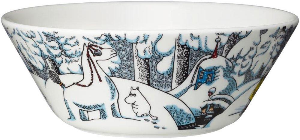 Пиала Arabia Finland Moomin Snowhorse, 400 мл1020733Пиала изготовлена из высококачественного фарфора, покрытого глазурью. Внешняя стенка оформлена красочным изображением. Изделие прекрасно подойдет для подачи салата или мороженого. Благодаря уникальному дизайну такая пиала станет бесспорным украшением вашего стола.