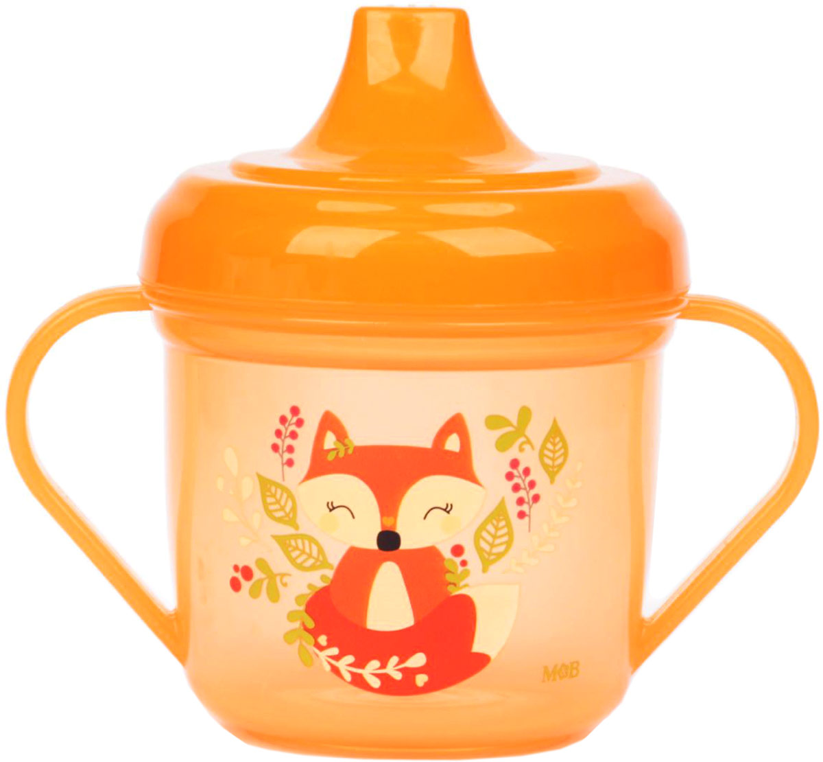 Mum&Baby Поильник с ручками Лисичка цвет оранжевый 200 мл -  Поильники