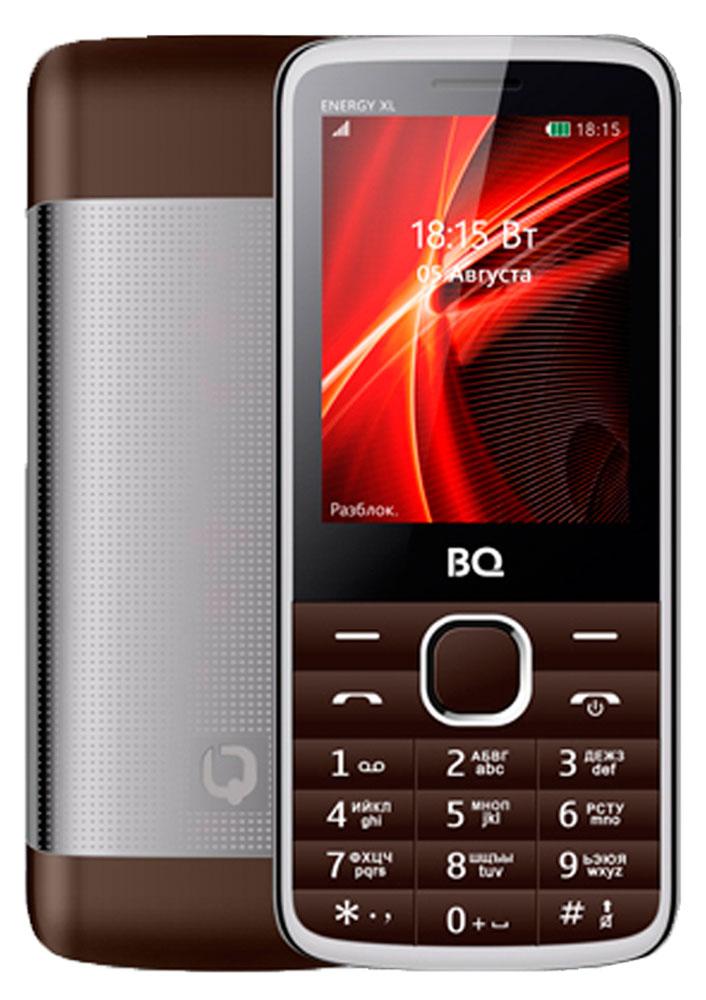 BQ 2806 Energy XL, Brown85954005BQ 2806 Energy XL меняет ваши представления о мобильных телефонах. Стильный металлический корпус и благородные расцветки дизайна делают этот мобильный телефон особенно привлекательным. Главные достоинства скрываются внутри телефона, а именно большая батареяобъемом 3000 мАч, позволяющая оставаться на связи до 7 дней! Кроме этого BQ 2806 Energy XL получил большой дисплей с диагональю 2,8, на котором удобно просматривать информацию и пользоваться всеми мультимедийными возможностями. В комплекте с телефоном предусмотрены наушники для комфортного прослушивания музыки и FM-радио. Две SIM-карты помогут отделить личные контакты от деловых.Телефон сертифицирован EAC и имеет русифицированную клавиатуру, меню и Руководство пользователя.