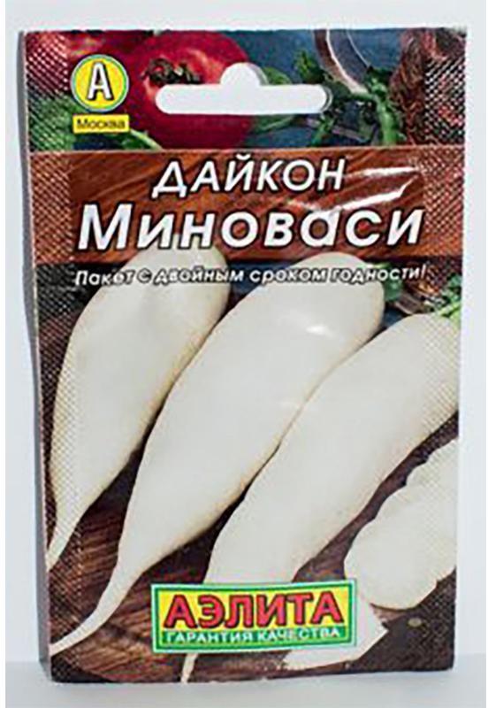 Семена Аэлита Дайкон. Миноваси4601729003110 Уважаемые клиенты! Обращаем ваше внимание на то, что упаковка может иметь несколько видов дизайна. Поставка осуществляется в зависимости от наличия на складе.