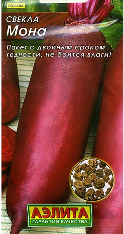 Семена Аэлита Свекла. Мона4601729030666Среднеранний, одноростковый сорт (период от всходов до технической спелости 80-100 дней), не требует прореживания. Урожайность высокая, 5,8-6,5 кг/кв. м. Корнеплоды цилиндрические, гладкие, массой 170-280 г, погружены в почву мелко, легко выдергиваются. Мякоть темно-красная, нежная, сочная, без колец и грубых волокон. Вкусовые качества отличные. Рекомендуется для различной кулинарной переработки, консервирования, хранения, отлично подходит на пучковую продукцию. Посев семян в открытый грунт на глубину 2 см. Прореживают всходы обычно в два приема. Первый раз - с развитием первых двух пар настоящих листочков. Второе прореживание проводят, когда корнеплоды достигнут диаметра 2-3 см. Растениям необходимы регулярные поливы, прополки, рыхления и подкормки.Товар сертифицирован.Уважаемые клиенты! Обращаем ваше внимание на то, что упаковка может иметь несколько видов дизайна. Поставка осуществляется в зависимости от наличия на складе.