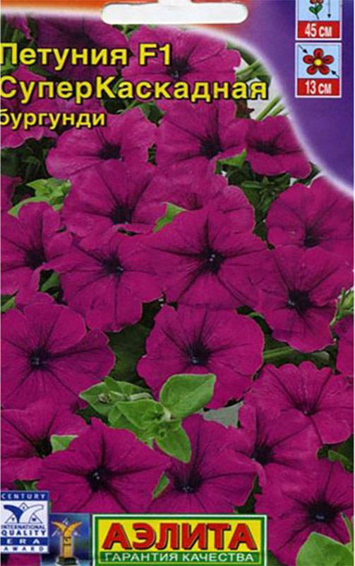 Семена Аэлита Петуния F1 суперкаскадная. Бургунди4601729045073Однолетник. Высота растения 45 см. Диаметр 13 см. Изумительные цветки нового сорта петунии раскрываются один за другим без перерыва с июля по октябрь и своей сияющей окраской привлекают к себе внимание еще издалека. Компактные кустики с каскадами соцветий на поникающих стеблях идеальны для цветочных аранжировок в висячих корзинах, а также для смешанных посадок в балконных ящиках. Никакое другое растение в такой степени, как петуния, не подходит для оформления комфортных и романтических уголков для отдыха. Посев на рассаду с февраля до середины марта. Чем раньше посеяны семена, тем раньше наступает цветение. Февральским посевам требуется дополнительная подсветка. Семена в драже прорастают на свету! Сеют поверхностно, без заделки, под стекло или пленку для сохранения постоянной влажности. Всходы появляются на 5-6 день. Пикировка в фазе 1-2-х настоящих листьев. Высадка в грунт закаленной рассады в конце мая, с шагом 20-25см. Петуния - культура сравнительно неприхотливая, очень пластичная, хорошо адаптируется к любым условиям.Для продолжительного и обильного цветения растениям необходим своевременный полив, регулярная прополка, рыхление и подкормка минеральными удобрениями.Товар сертифицирован.Уважаемые клиенты! Обращаем ваше внимание на то, что упаковка может иметь несколько видов дизайна. Поставка осуществляется в зависимости от наличия на складе.