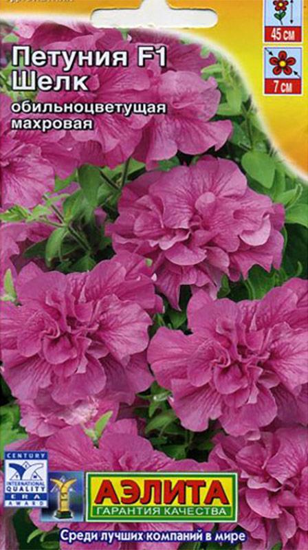 Семена Аэлита Петуния. Шелк F14601729050756Самые заветные мечты садоводов воплотились в новой гибридной обильноцветущей петунииШелк. Растение отличается особой компактностью, хорошим ветвлением, рано зацветает идает так много одновременно распущенных крупных махровых цветков диаметром до 7 см, чтоза ними практически не видно листочков. Гибрид характеризуется прекрасным внешним видом,продолжительным и очень дружным цветением, неприхотливостью и устойчивостью кнеблагоприятным погодным условиям. Петуния незаменима в оформлении клумб, бордюров,вазонов, кашпо и балконных ящиков.Посев: Семена в гранулах! Для того, чтобы облегчить посев и выращивание мелкосемянныхкультур, была разработана система покрытия каждого семечка специальным составом. Припопадании влаги на гранулу – оболочка рассыпается. Посевфевраль - апрель на рассаду.Гранулы располагают по поверхности слегка уплотненной и увлажненной почвы, не заделываяих, увлажняют из распылителя, накрывают стеклом и содержат при температуре 20-240 С, недопуская пересыхания оболочки гранулы и компоста до момента прорастания сеянцев и,периодически, убирая с поверхности стекла капли конденсата. Всходы появляются только насвету (исключая попаданияпрямых солнечных лучей) на 10-15 день. После появления первогонастоящего листа посевы проветривают. Ив дальнейшем снимают стекло, постепенно снижаятемпературу до 14-160 С. Рассада плохо переносит высокую температуру и переувлажнение.Закаленную рассаду высаживают в грунт послеокончания весенних заморозков на расстоянии15-20 см. Уход: лучше растет на хорошо освещенных местах с легкой, плодороднойпочвой. Благодарноотзывается на поливы и регулярные подкормки. Для подкормки мы рекомендуем удобрениеАЭЛИТА-ЦВЕТОЧНОЕ, содержащее комплекс NPK, способствующее улучшению роста ипродолжительному цветению. Цветение: с июня до заморозков. Уважаемые клиенты! Обращаем ваше внимание на то, что упаковка может иметь нескольковидов дизайна. Поставка осуществляется в зависимости от наличия на складе.