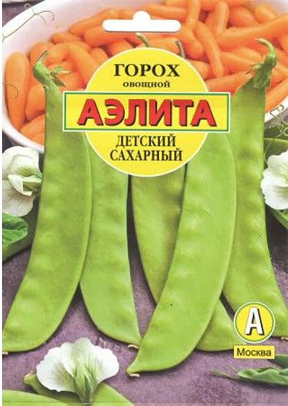 Семена Аэлита Горох овощной. Детский сахарный4601729054945 Уважаемые клиенты! Обращаем ваше внимание на то, что упаковка может иметь несколько видов дизайна. Поставка осуществляется в зависимости от наличия на складе.